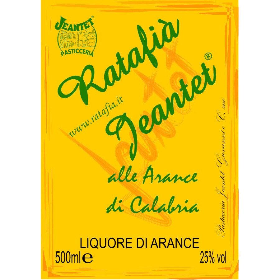 Etichette Ratafia arance
